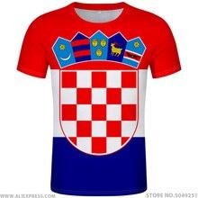 Croatia Áo Diy Tự Do Tùy Chỉnh Tên Số HRV Áo Thun Quốc Gia Cờ Croatia Nước Hrvatska Cộng Hòa In Hình Logo Quần Áo