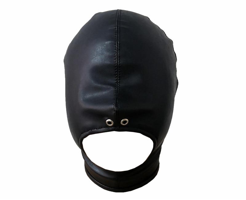 Adult Products Toy Bondage Erotic Costume For Couple Men Women Black Sex Mask Fetish BDSM Open Mouth Slave Hood