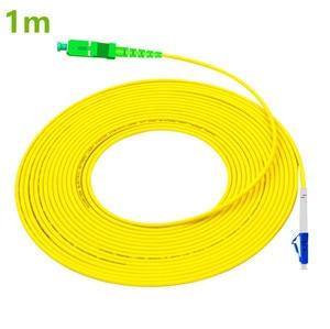 Image 1 - Patch Cord LC UPC to SC APC 1m Optical Cable LC G657A Optical Jumper Fiber PatchCord Simplex 2.0mm PVC Fiber Cable SC Connector