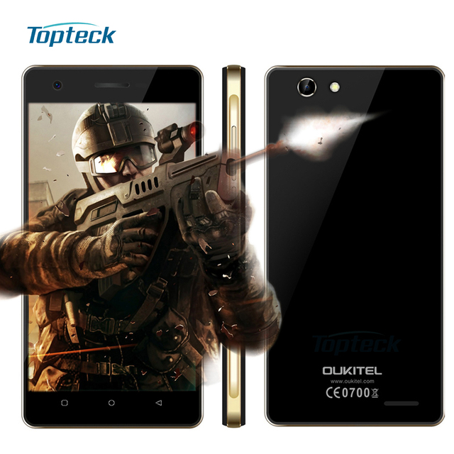 """OUKITEL C4 4G FDD-LTE 5.0"""" HD 1280*720 Smartphone Android 6.0 MTK6737 Quad Core 64-bit 1.3GHz Cellphone 1GB+8GB 8MP Mobile Phone"""
