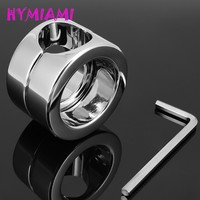HYMIAMI Stainless steel Ball Weight Scrotum Ring Penis cock testis Restraint device Adult sex products 620g Ball Stretcher