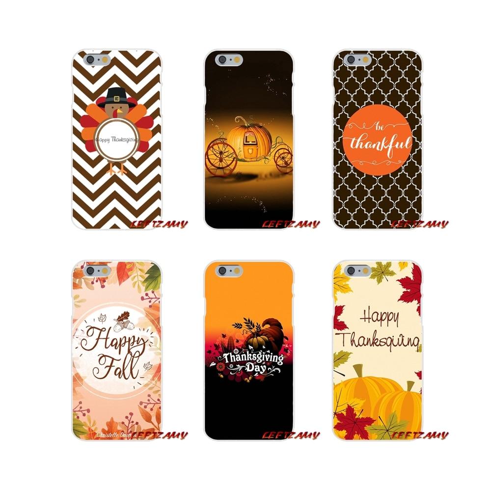 Para iPhone X XR XS MAX 4 4S 5 5S 5C SE 6 6 S 7 8 Plus accesorios del teléfono fundas cubiertas feliz Acción de Gracias