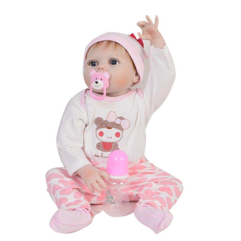 KEIUMI 23 Zoll Full Silikon Vinyl Reborn Baby Puppe Realistische Mädchen Puppen Lebendig Echt Baby Lebensechte Geburtstag Weihnachten Geschenk-in Puppen aus Spielzeug und Hobbys bei  Gruppe 3