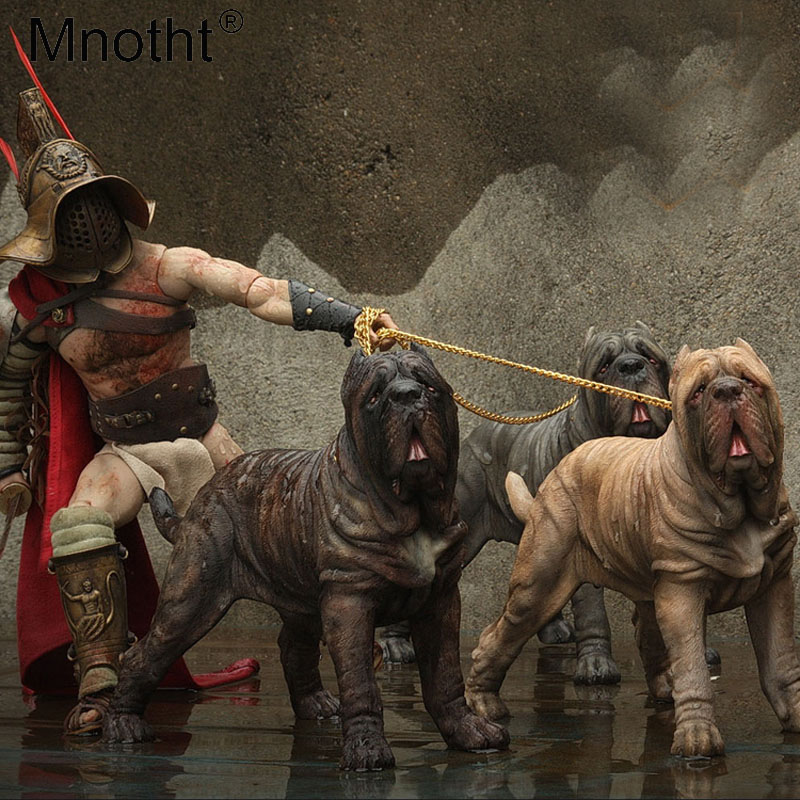Mnotht 1/6 Scale Prehistoric monster Neapolitan Mastiff Model Resin Simulation Dog Carve Model Toys For 12in Action Figure Scene