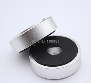 Image 1 - Rubber Ring Shock Absorber Top Aluminum Machine Foot Amplifier Feet Speaker Turntable Feet 40*10MM 2Pieces Free Shipping