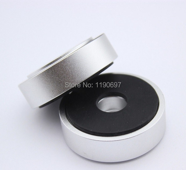 Rubber Ring Shock Absorber Top Aluminum Machine Foot Amplifier Feet Speaker Turntable Feet 40*10MM 2Pieces Free Shipping