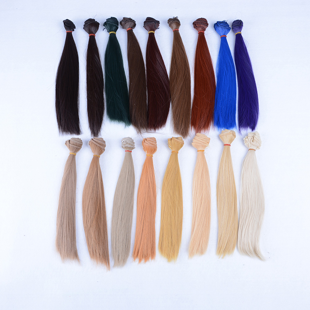 1pcs hair refires bjd hair black pink brown khaki white grey color long straight wig hair for 1/3 1/4 1/6 diy new arrival
