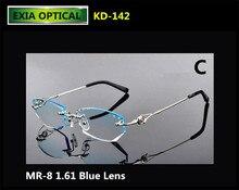 68c0b95fea MR-8 1.61 Blue Lenses Optical Women Glasses Alloy Frame Complete Eyewear  EXIA OPTICAL KD