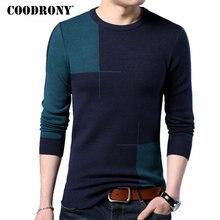 COODRONY 2018 nuevo Otoño Invierno grueso suéter de cachemira cálido hombres Casual cuello redondo Pull Homme marca jerseys hombres suéteres de lana 7185