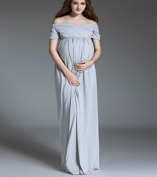 100 Cotton Pregnancy Women Maternity Dress For Photo Shoot Long Pink Women  Photography Dress For Baby Shower Free Shipping