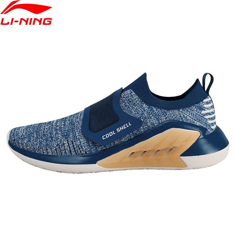 Li-ning hommes chaussures de marche supplémentaires élégant doublure respirante Mono fil chaussures de Sport coussin confort baskets AGLN025 YXB151