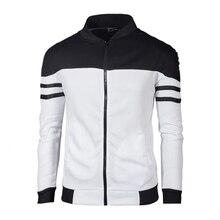 цены New Trend White Jacket Men Veste Homme 2019 Bomber Mens Fashion Slim Fit Argyle Zipper Varsity Jacket Casual Jackets
