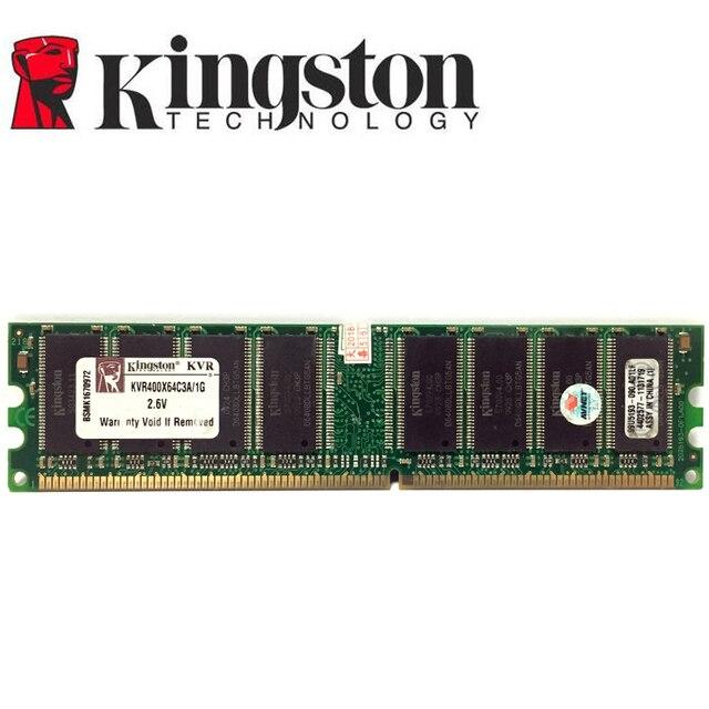 كينغستون 1G 1GB DDR PC 2700 3200 u DDR 1 333MHZ 400 MHZ 333 400 MHZ حاسوب شخصي مكتبي ذاكرة ميموري وحدة كمبيوتر سطح المكتب DDR1 RAM