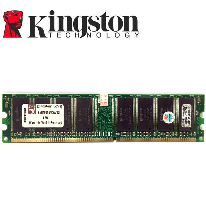 Kingston  1G 1GB DDR PC 2700 3200 U DDR 1 333MHZ 400MHZ 333 400 MHZ Desktop  PC Memory Memoria Module Computer Desktop DDR1 RAM