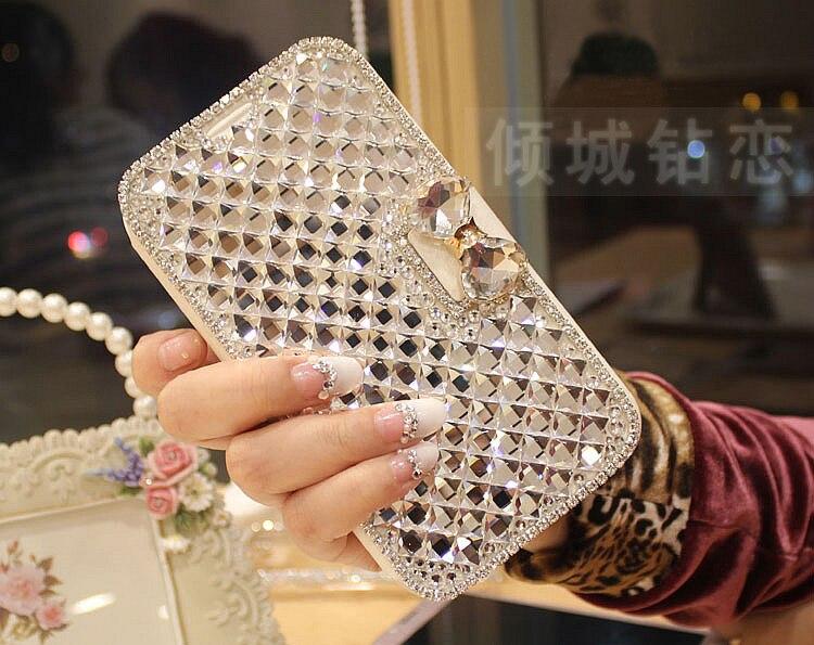 Lusso Donna Ragazza Signora Portafoglio In Pelle di Vibrazione Caso Della Copertura Del Telefono Del Diamante per Samsung Galaxy S8 Più Bordo S6 S7 S3 S4 S5 Nota 8 3 4 5