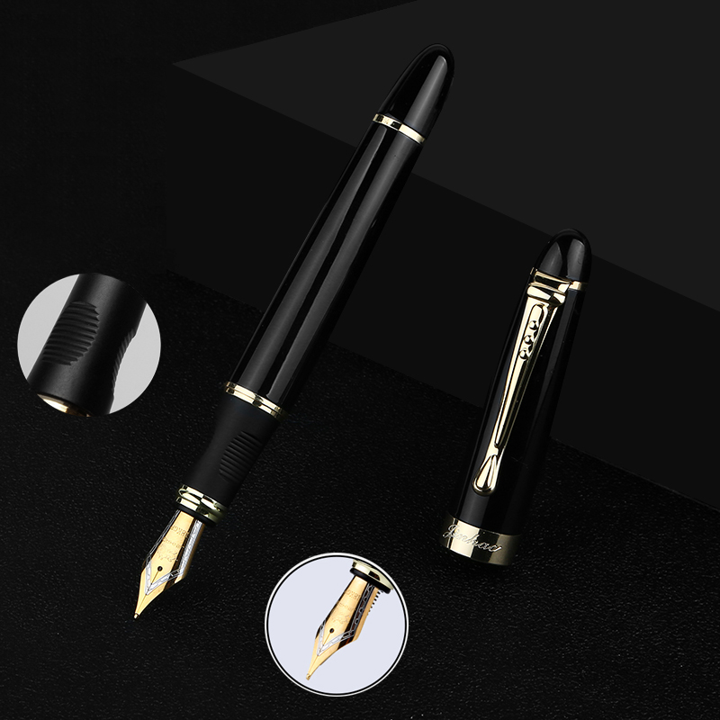 Full Metal Iraurita Fountain pen 0.5mm ink Golden Clip pens dolma kalem Caneta Stationery Office school supplies 1003