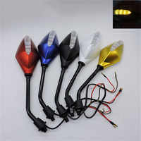 5 colors available turn signal light motorbike rearview mirrors scooter indicator for honda yamaha benelli motorcycle mirror