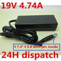 HSW calidad 19 V 4.74A 90 w cargador de ordenador portátil adaptador de CA fuente de alimentación para HP pabellón DV3 DV4 DV5 DV6