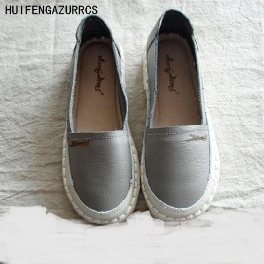 HUIFENGAZURRCS,Genuine Leather shoes,pure handmade white shoes,the retro art moril girl Flats shoes,casual Single shoes,3 colors huifengazurrcs new pure handmade casual
