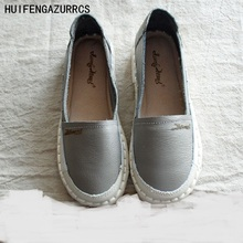 New 2016 summer,Genuine Leather shoes,pure handmade white shoes ,the retro art mori girl Flats shoes,casual Single shoes,3 color