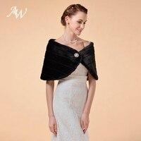 AW Bridal Wraps Winter Faux Fur Wrap Wedding Bolero Women Wedding Jacket Cape for Wedding Dresses Wedding Accessories