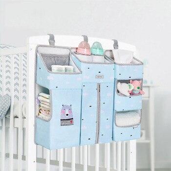 Sunveno Baby Storage Organizer Crib Hanging Storage Bag Caddy Organizer for Baby Essentials Bedding Set Diaper Storage Bag 10