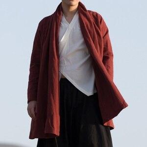 Image 2 - الملابس الصينية التقليدية للرجال الذكور سترة الشتاء الشرقية للرجال وشو الكونغ فو الزي الملابس السترات الرجال 2019 TA1139