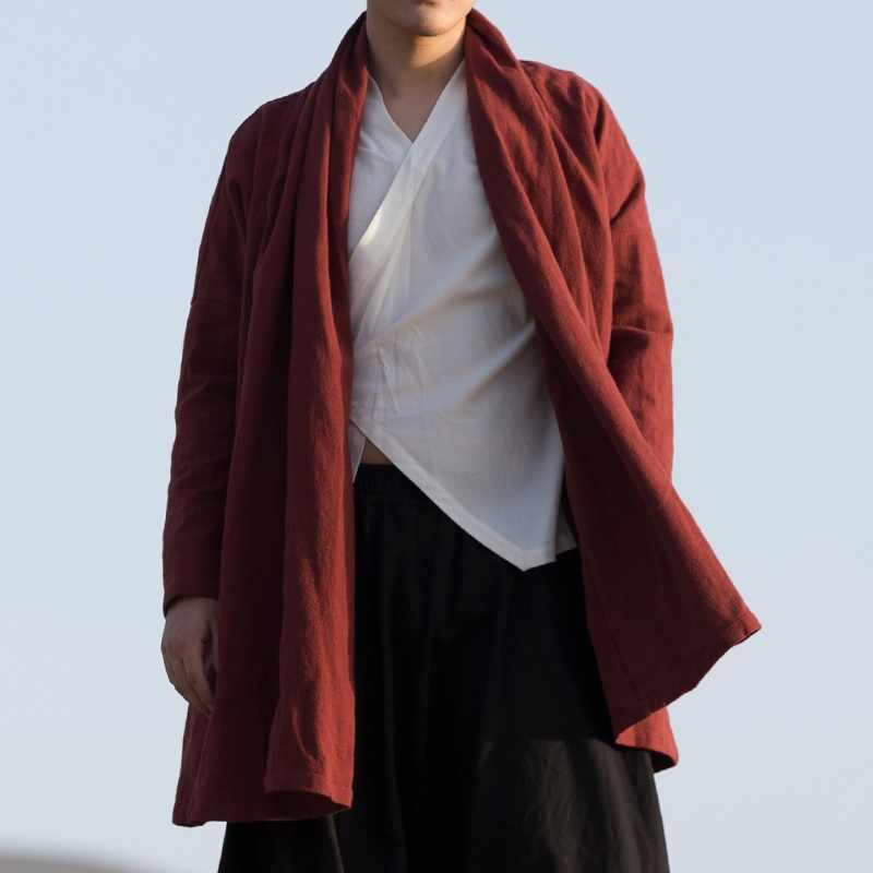 Traditionele chinese kleding voor mannen mannelijke oosterse winter jas voor mannen wushu kung fu outfit kleding jassen mannen 2018 TA1139