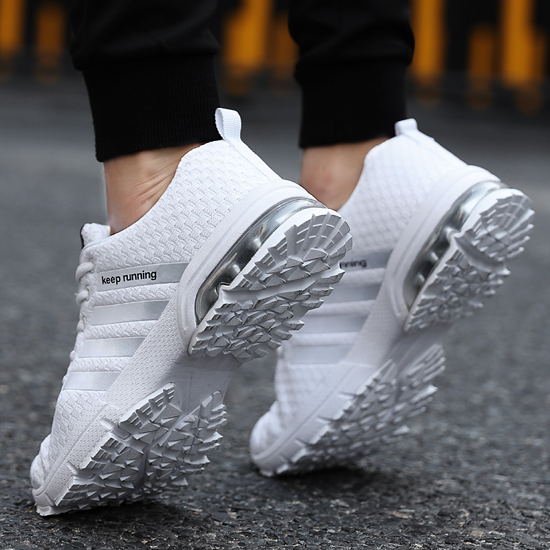 Image 2 - Cork New Men Shoes Casual White Sneakers Mens Trainers Air Cushion Men Tenis Masculino Adulto  Sneakers Leisure Blue Shoes Men-in Men's Casual Shoes from Shoes