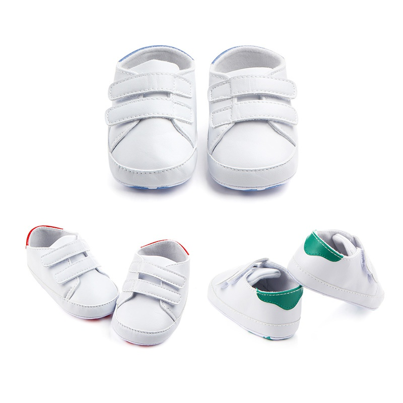 Casual Simple Pu Soft Shoes Baby White Shoes Newborn Boy Girl First Walker Soft Soles Sports Sneakers Chic J2