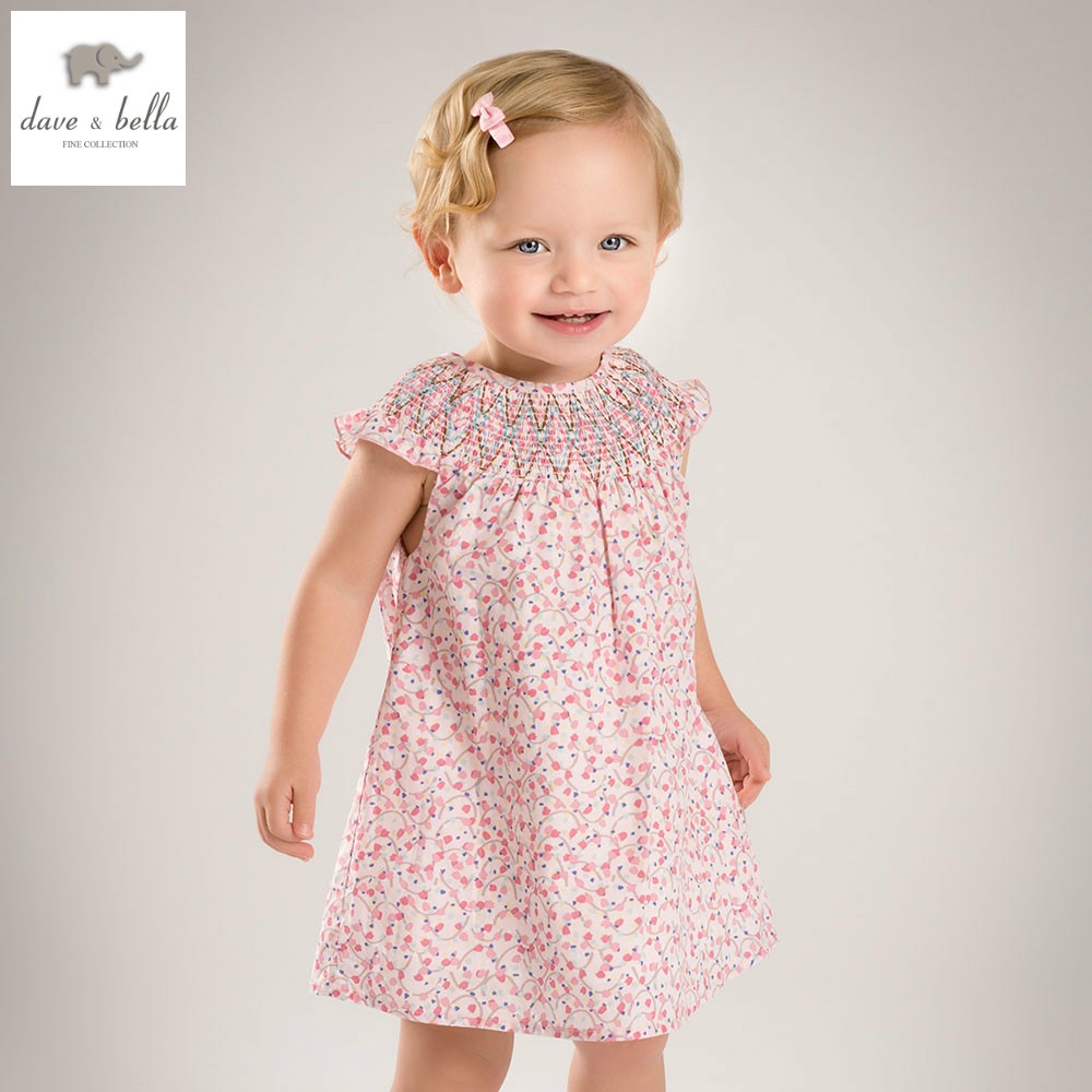 купить DB4430 dave bella summer baby girls princess dress childs floral dress kids wedding dress children dress baby lolita costumes в интернет-магазине