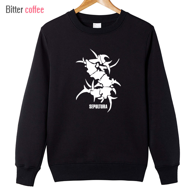 BITTER COFFEE NEW SEPULTURA Tribal Logo Metal Punk rock Men's Printed Hoodies For Men Masculina Printed Hoodies & Sweatshirts