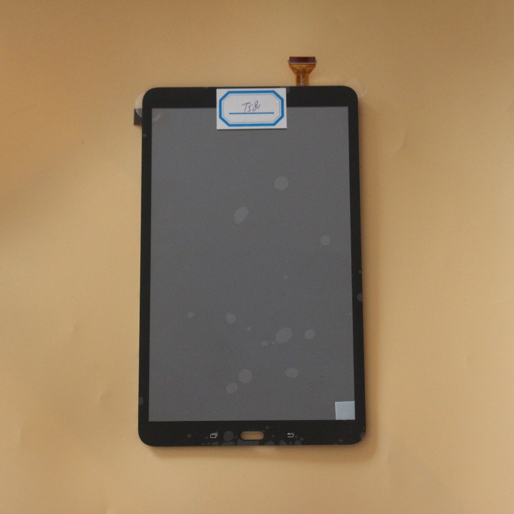 Full Touch Screen Digitizer Glass+LCD Display Assembly For Samsung Galaxy Tab A T580 T585 SM-T580 SM-T585 Parts Black free shipping for samsung galaxy s5 sm g900 sm g900f lcd screen assembly black