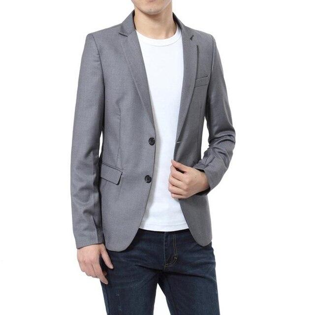 Мужчины Slim Fit Бизнес Blazer Куртка Мужчины Костюм Куртки Свадьба Смокинг Плюс Размер L-5XL Топы JL445