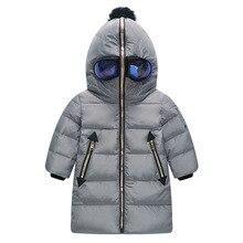 Fashion Boys winter Jackets Ultraman with Glass 80% White Duck Down Kids Winter Down Coats Novelty Girls Winter Jackets 4-10Y