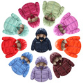 10 cores crianças roupas de inverno casaco meninos e meninas doces da cor das crianças, bebê quente para baixo jaqueta de algodão, crianças Casaco de Inverno