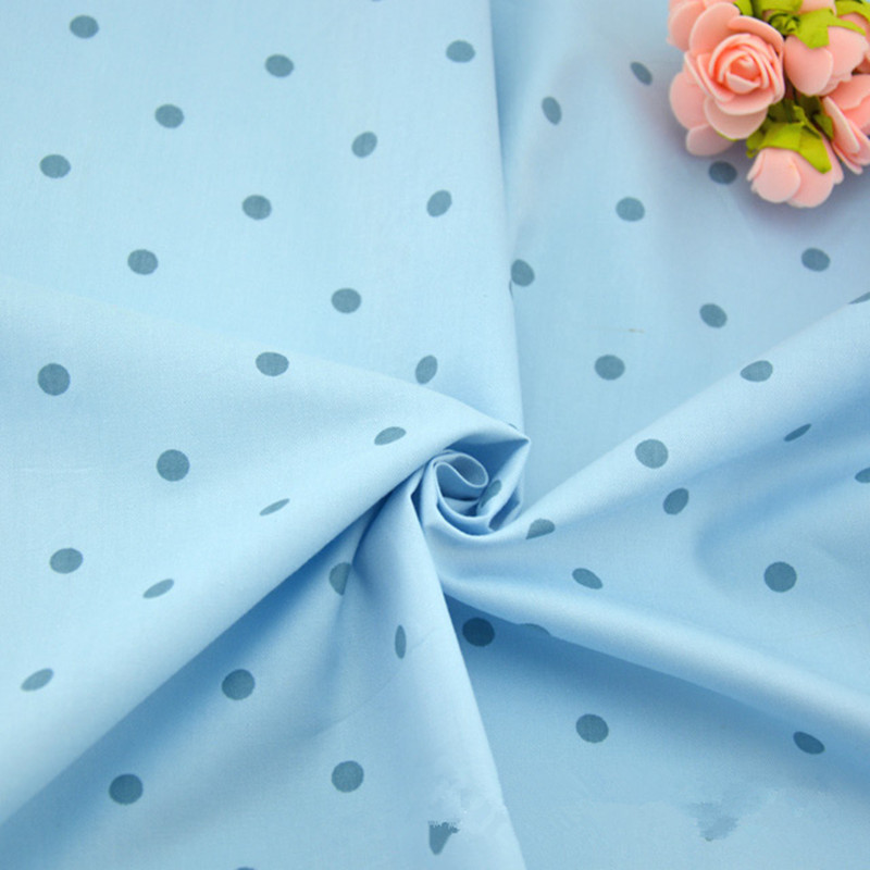 1 mètre fond bleu avec bleu ronde dot talasite tissu 100% coton sergé tissu  pour literie de bébé, BRICOLAGE à la main tissu CR-421 3e1f37b9a64