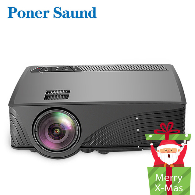 Special Price Poner Saund LCD GP12 LED Mini Projector for Home Theater Support Full HD 1080P HDMI USB SD & 3.5mm Earphone LED Video Proyector