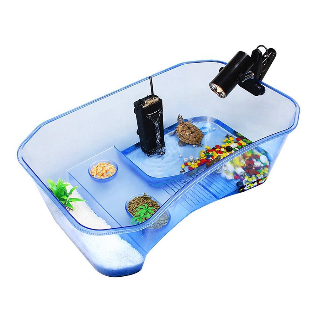 Adeeing Reptil Schildkröte Schildkröte Vivarium Box Aquarium Tank mit Aalen Rampe