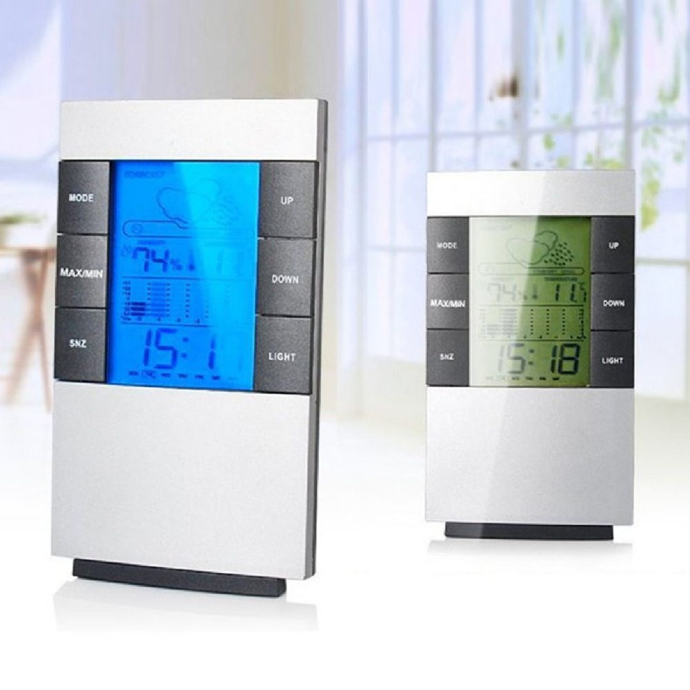 Wall hanging Fashion Multifunctional Home Humidity Thermometer Lcd Digital Hygrometer Temperature Meter Clock Measurement Device multifunctional home humidity thermometer lcd digital hygrometer temperature meter clock measurement device