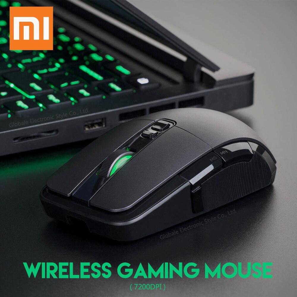 Оригинальный Xiaomi Беспроводной Мышь игры USB 2,4 ГГц 7200 Точек на дюйм RGB Подсветка Перезаряжаемые компьютер Мышь Gamer Оптическая