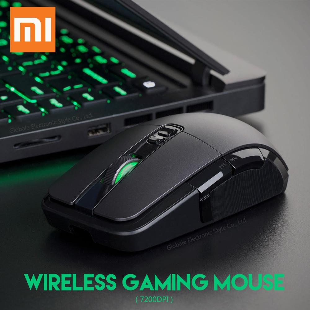 Original Xiaomi souris sans fil de jeu USB 2.4GHz 7200DPI rvb rétro-éclairage souris d'ordinateur Rechargeable Gamer optique