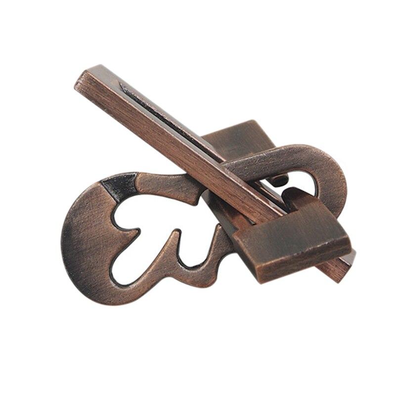 Nostalgic Magic Intelligence Buckle Puzzle Unlocking Educational Toy Brain Teaser Puzzles For Adults -Yangqin Lock