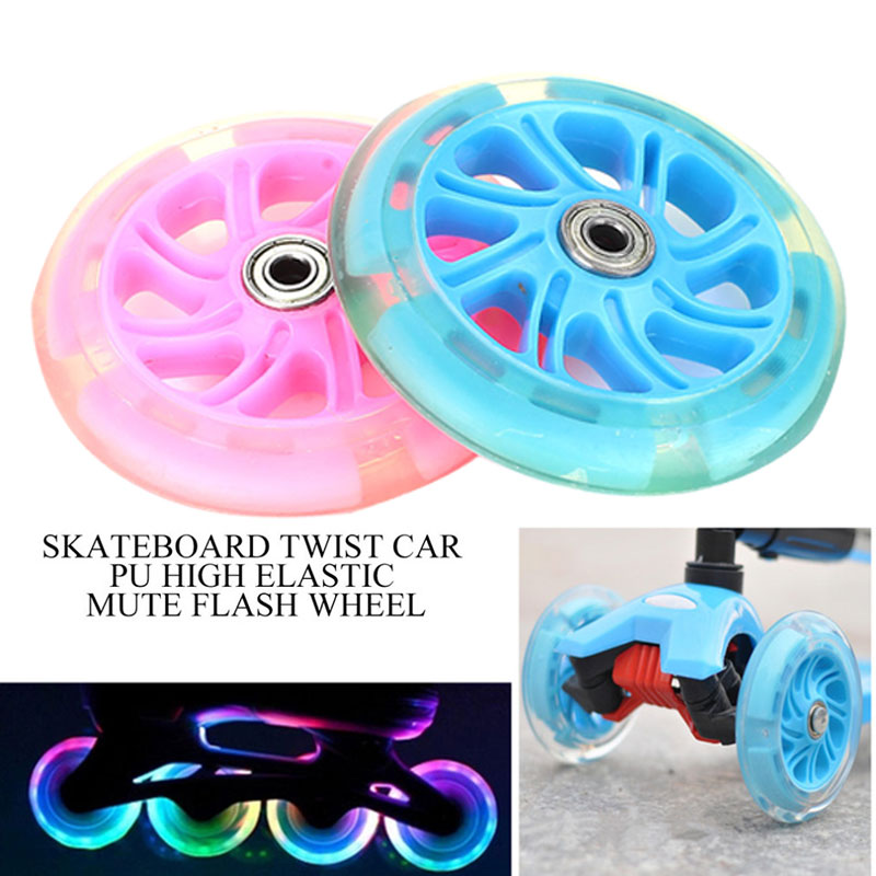 Casters Skateboard Wheel PU 2 Color Single Warping Slide Scooter Portable Shopping Cart Accessories Longboard Durable 120mm