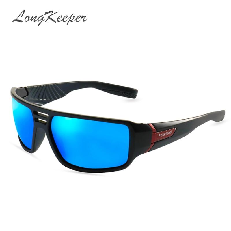 LongKeeper HD Polarized Sunglasses Men Black Frame Driving Sun Glasses Women Luxury Brand De Sol Gafas Eyewear Accessories