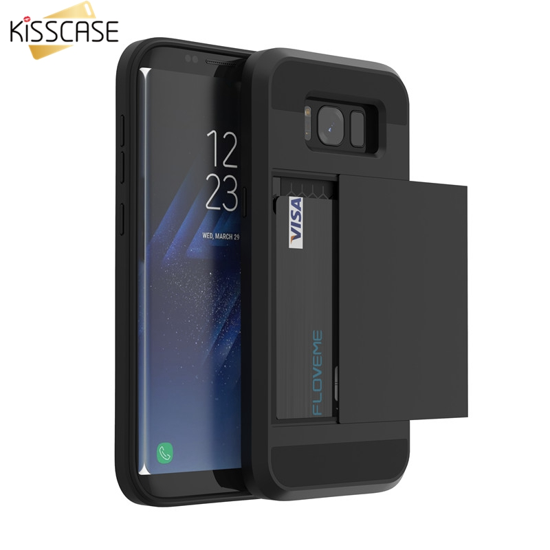 Galleria fotografica KISSCASE Case For Samsung Galaxy A3 A5 A7 J3 J5 J7 2016 2017 Card Slot Phone Case For Samsung S8 S9 Plus S5 S6 S7 Note 9 8 Cover