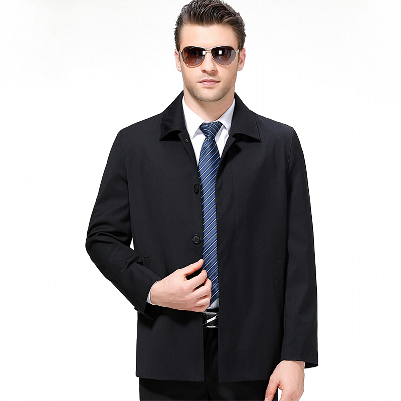 New Arrival Men Wool Jacket Spring Autumn Male Casual Business Button Outwear Windbreak Overcoat Pea Coat Plus Size M-3XL CF210