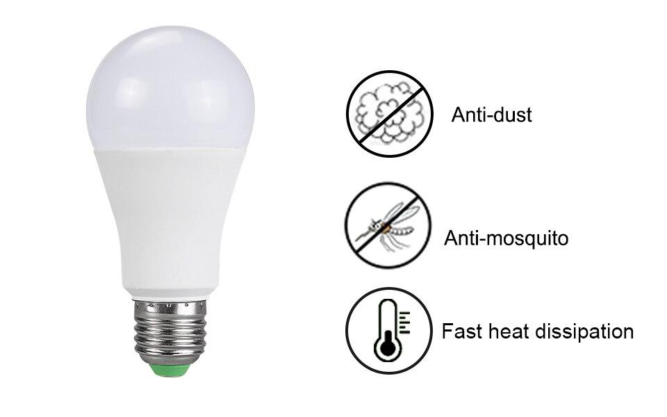 85-265V E27 LED Lamp RGB 15W Bluetooth APP Wifi Control Smart Bulb 10W RGBW RGBWW Light Bulb IR Remote Control Home Lighting (8)