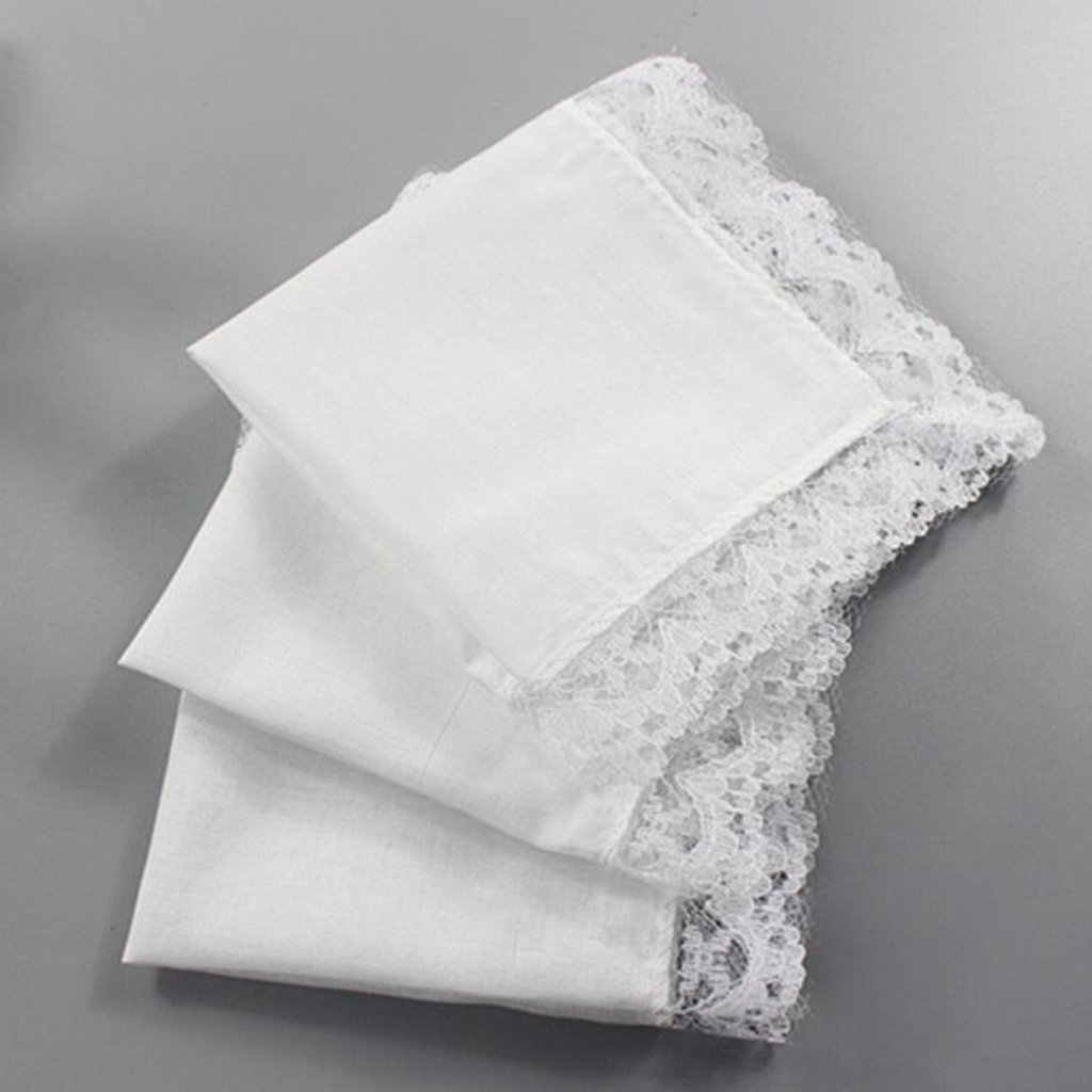 5pcs Pocket White Cotton Thin Handkerchiefs DIY Hand Drawing Pocket Square Plain Handkerchief Sweat Towel Vintage Gift Hankies