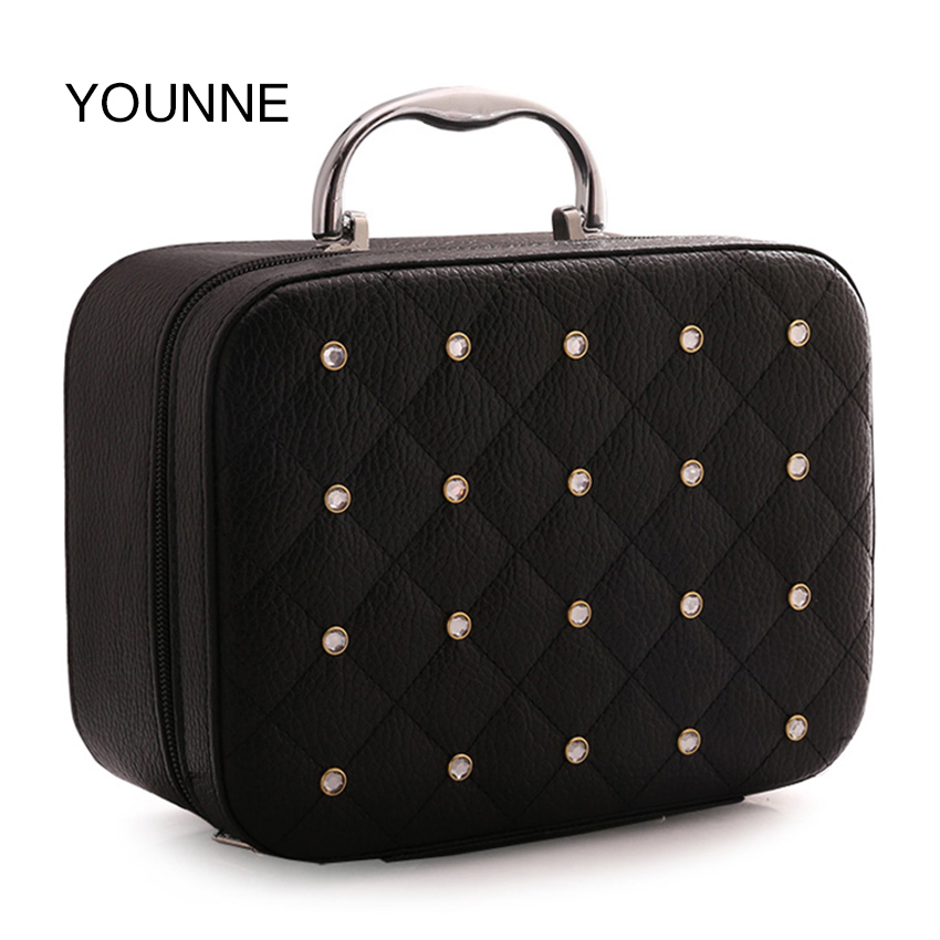 Nevenka Women Cosmetic Bags Ladies PU Leather Rivet Make Up Bags Teenager Girls Mini Bags High Quality Makeup Organizer 2018 гардина quelle heine home 135005 1 в ш ок 145x60 см